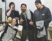"""The Nerdery hosts week-long summer and winter Pentathanerd competitions. Above is the winning team in January's inter-office """"Olympics for nerds."""""""