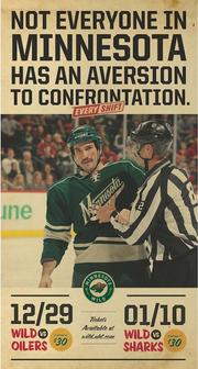 An ad for one of Olson's clients: Minnesota Wild