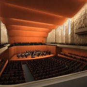 A rendering of the inside of the planned concert hall at the Ordway in St. Paul.
