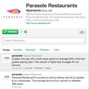 Parasole's response on its Twitter feed.