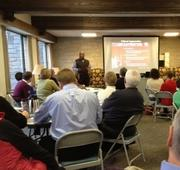 Ron James leading a business ethics seminar at St. Stephen's Episcopal Church in Edina.