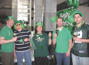 SPS Commerce Inc. hosts an annual St. Patrick's Day celebration for all staff wearing green.