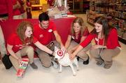 Target employees in Roseville get a surprise visit from Target mascot Bullseye just before the store opened on Thanksgiving.
