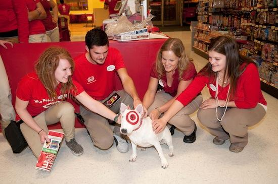 Bullseye, shown here at a Target store on Black  Friday, will appear on the Canadian tour.