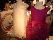 Marchessa:Girls beaded dress, $99.99, and girls floral dress $79.99