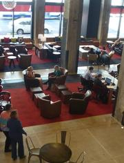 Target employees can use Wi-Fi and their laptops to work alone in the center or they can hold meetings with small groups.