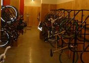 There is storage room for about 125 bikes.