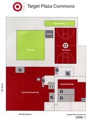 Layout of the first floor of Target Plaza Commons.