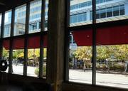 A view of Nicollet Mall and Target's corporate headquarters from inside Target Plaza Commons.
