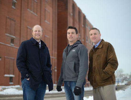 Urban Organic's founding partners (from L to R): Fred Haberman, Dave Haider and Chris Ames. Not pictured: Haider's wife, Kristen.