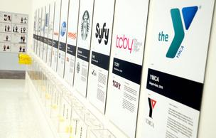Exhibit showcases logo redesigns at Starbucks, Pfizer, Nickelodeon