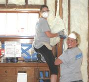 Ecolab volunteers helped habitat for Humanity renovate a St. Paul home earlier this summer.