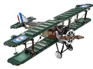 Authorities charge that a California man put his own barcodes on Lego products to buy them at a discount, then resell them online for higher prices. Above, Lego's Sopwith Camel.