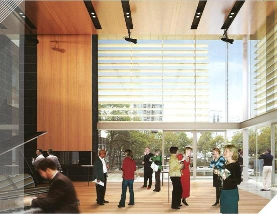A rendering of the new atrium being built at Orchestra Hall in Minneapolis.