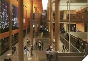 The grand foyer at Orchestra Hall.
