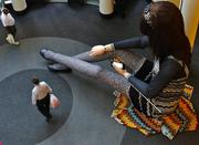"""""""Little Marina,"""" a 25-foot doll created to promote the Missoni launch, at the Target in downtown Minneapolis."""