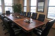 A large conference room at MoreLaw's space at the Flour Exchange Building. The company is leasing an additional 4,000 square feet on the building's third floor to construct 15 new lawyer offices and space for support staff.