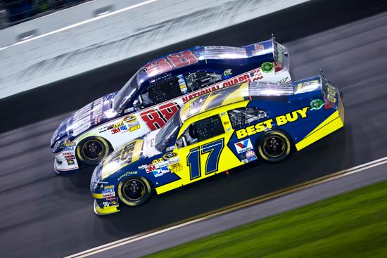 Best Buy's corporate sponsorship of Matt Kenseth's No. 17 gained extra traction when the driver recently won NASCAR's Daytona 500.
