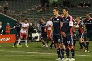 UnitedHealthcare's logo enjoys a prominent position on the jerseys of the New England Revolution soccer team.