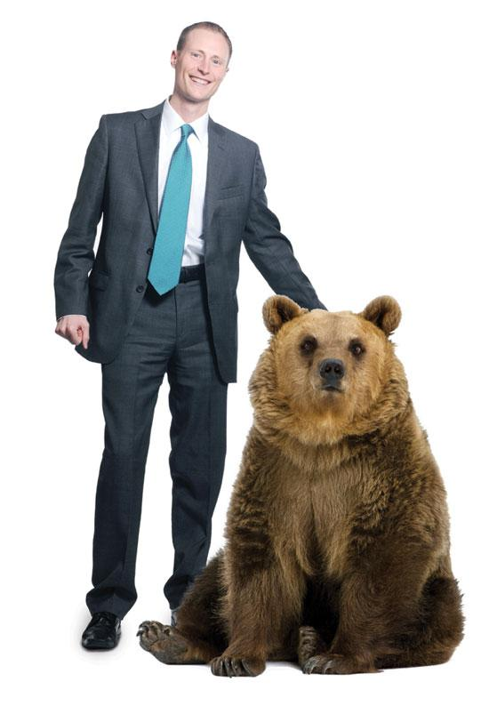 Banker Todd Senger is climbing the ladder at BMO Harris. The 40 Under 40 honoree said last year that his spirit animal is a bear, but a lion might be more fitting these days.