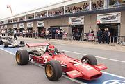 Hoyt has been a race car driver his whole life. He owns about 50 cars, including the 1969 Ferrari (above) he used to win the 2008 Historic Grand Prix in Monaco.