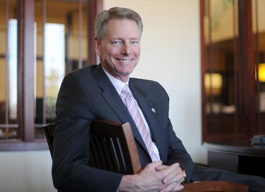 Proposed rules that could prompt big banks to raise fees or cut services could play to the advantage of smaller banks like Lakeview Bank in Lakeville. Pictured: Tom Mork, CEO of Lakeview
