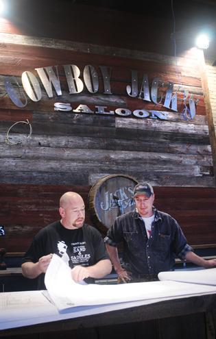 Tim Diebold, left, partner at The After Midnight Group, and Dominic Zignegro, assistant program manager, will soon open a Cowboy Jack's Saloon in Minneapolis. Next up, one in Williston, N.D.
