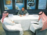 Jerry Weller of Grain Millers Dairy Products at the Riyadh Chamber of Commerce and Industry.