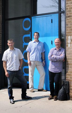 From left to right, Mono co-founders Michael Hart, Jim Scott and Chris Lange.