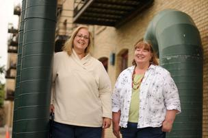 Teri LaDouceur (left) and Deb Edwards, co-founders and principals of Lighting Matters, built their business by focusing on niche work for big clients.