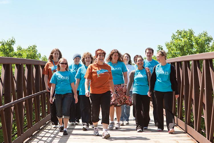 Prime's walking clubs were developed by its Wellness Champions program.