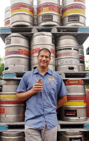 Nancy Kuehn | Minneapolis/St. paul Business Journal  Omar Ansari launched a brewery out of his parents' industrial-abrasives factory. Surly Brewing produced 11,000 barrels last year, and Ansari plans to expand.