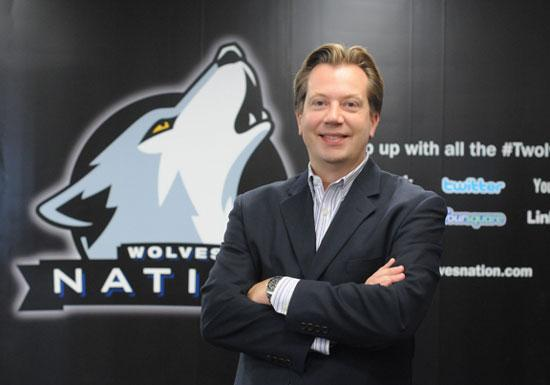 Timberwolves Chief Marketing Officer Ted Johnson says the team aims to be innovative in social media and on its updated website, Wolves Nation.