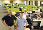 Andy Bernstein, left, and Joe Craddock lead a growing firm that has 37 employees now and might have 50 by the end of 2012.