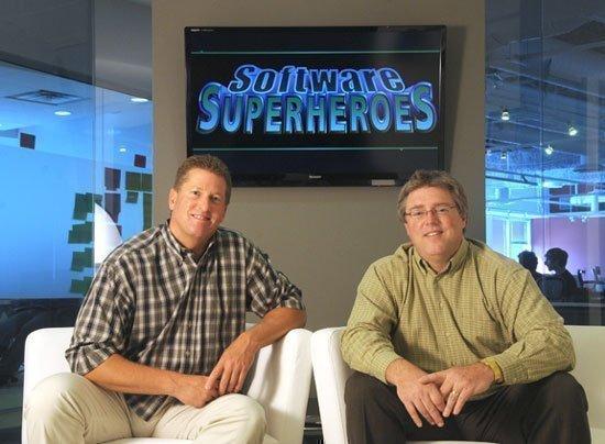 Magenic Technologies' Bob Schoewe, left, and Tom Frankenfield