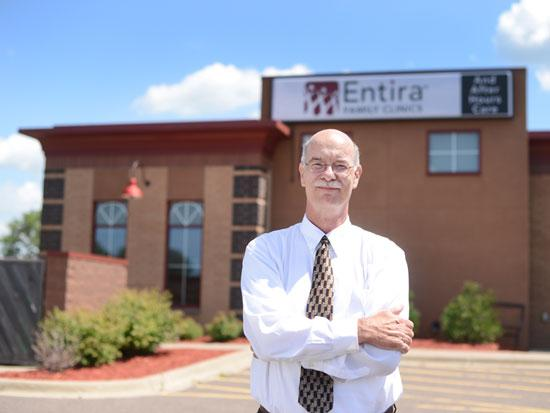 Paul Berrisford, chief operating officer at Entira Family Clinics, said the chain has kept its independent streak while other groups have merged into larger health systems.