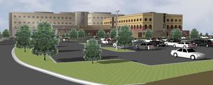 Rendering of the planned addition of Two Twelve Medical Center.