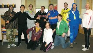 In May, staff at Blue Earth Interactive celebrated Track Suit Friday.