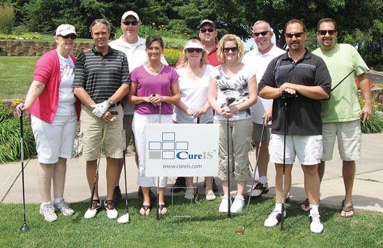 CureIS held its first-ever Leadership Team Golf Tournament in July as a way to have fun, while also working on some team building.