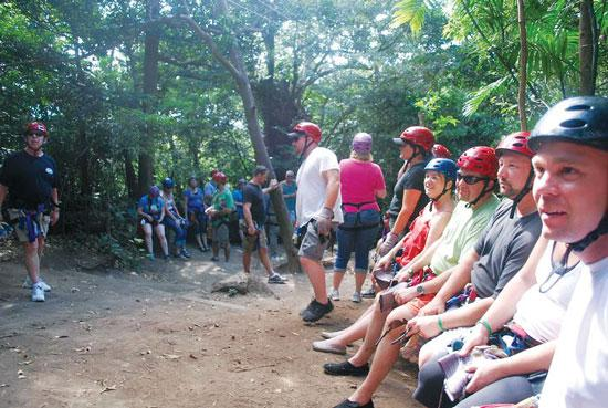 CureIS' company holiday get away to Costa Rica in February included a zip- lining team-building excursion.