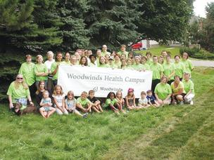 HealthEast and Woodwinds Health Campus employees participated in the Woodbury Days Grande Parade last August.