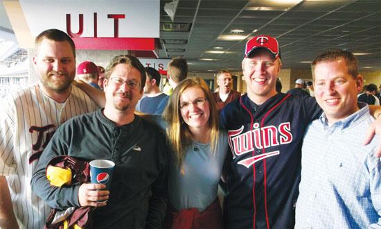 Wenck team members attend an April  Twins game before heading off to an annual spring mini-retreat.