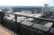 Carmichael Lynch designed the Wyman Patridge roof for game-day parties, though the ballfield view is fully obstructed.
