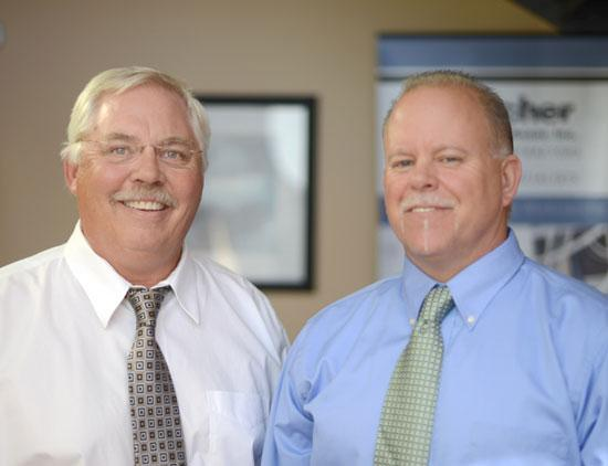 J. Becher & Associates CEO Jerry Becher, left, and Jon Nelson, the firm's low-voltage operations manager.