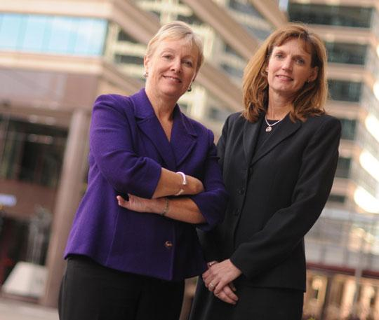 Martha Pomerantz, left, and Julie Krieger resigned from Lowry Hill to open a Minneapolis office for Evercore Wealth Management.
