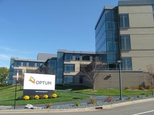 The offices used by UnitedHealth Group's Optum division were originally built for ADC Telecommunications Inc. Optum will stay at the site after the planned sale under a lease-back deal.