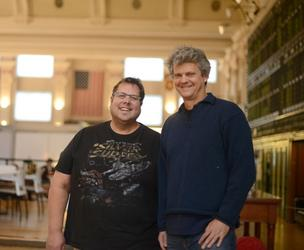 Chris Dykstra (right), co-founder and CEO of Warecorp, rebuilt his Web development firm after cutting nearly half its staff amid the recession. Chief Operating Officer Lee Rogas said Belarus generates more software engineers per capita than any other country.