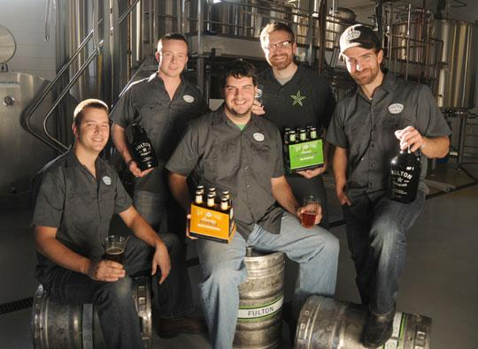 From left: Brian Hoffman, Mike Salo, Ryan Petz, Jim Diley and Peter Grande of Fulton Beer, which opened a brewery in Minneapolis last month