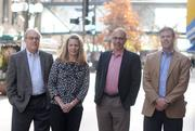 From left, Mill City Capital's co-founders Gary Obermiller, Lisa Kro, Mike Israel and Darren Acheson. All once worked for Goldner Hawn Johnson & Morrison.