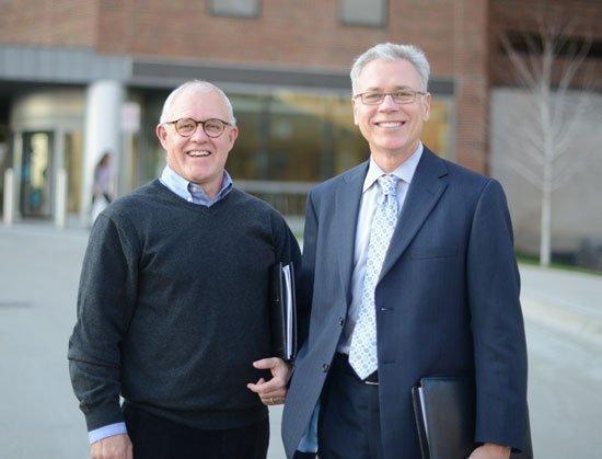 BWBR Architects principals Don Thomas, left, and Rick Dahl designed the mental health unit at Amplatz Children's Hospital.